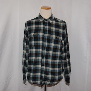 Woolrich Blue and Black  Flannel Shirt